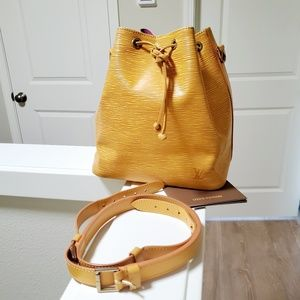 Louis Vuitton Yellow Epi Petit Noè
